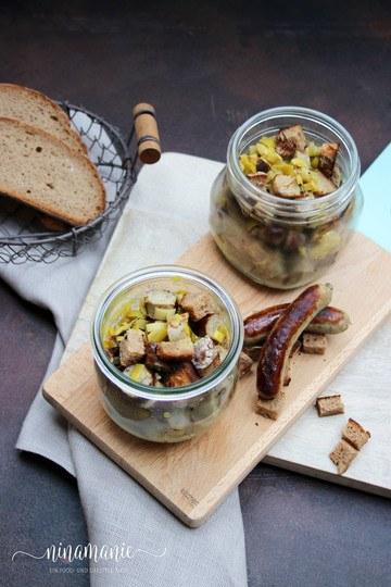 Rezept Lauwarmer Nürnberger-Bratwurst-Salat