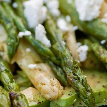 Rezept Lauwarmer Spargel mit Avocado, Feta und Vanille