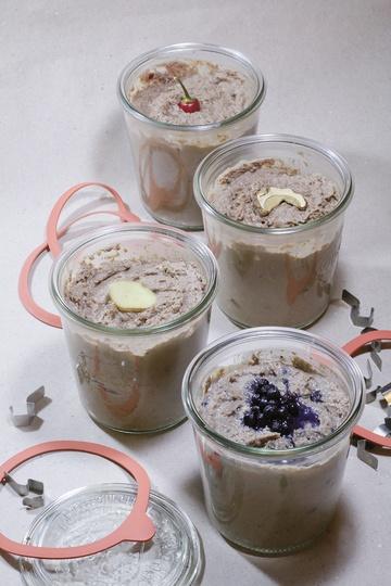 Rezept Leberpastete vom Reh, mit Steinpilzen, Chilies, Ingwer oder Heidelbeeren