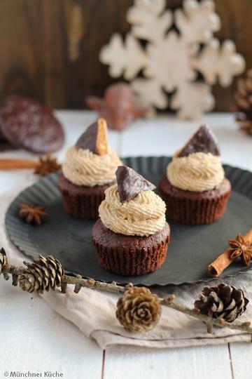 Rezept Lebkuchen-Cupcakes mit Gewürz-Frosting