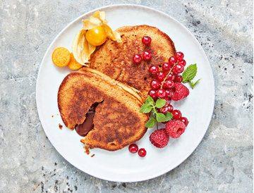 Rezept Lebkuchen-Pancakes mit flüssigem Schokokern