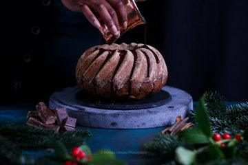 Rezept Lebkuchengugelhupf mit Schokoladen - Kaffee Glasur