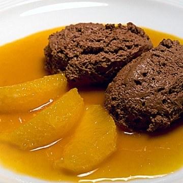 Rezept Lebkuchenmousse mit Orangenragout