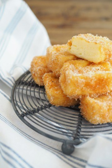 Rezept Leche frita - frittierte Puddingwürfel aus Spanien