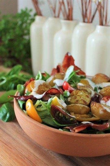 Rezept Leckerer Herbstsalat mit Speck und Birnen