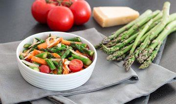 Rezept Leckerer Salat mit gebratenem grünen Spargel