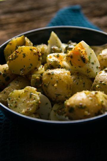 Rezept Leichter Kartoffelsalat mit Eiern und Senfdressing