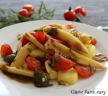 Rezept Leichter Kartoffelsalat mit Tomaten und Mais