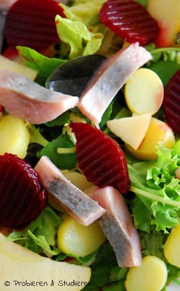 Rezept Leichter Matjessalat mit Apfel & Rote Bete