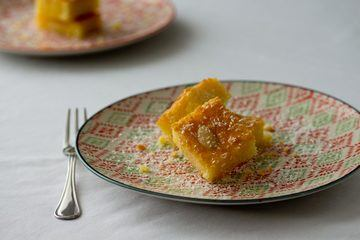 Rezept Libanesischer Grießkuchen – Basbousa