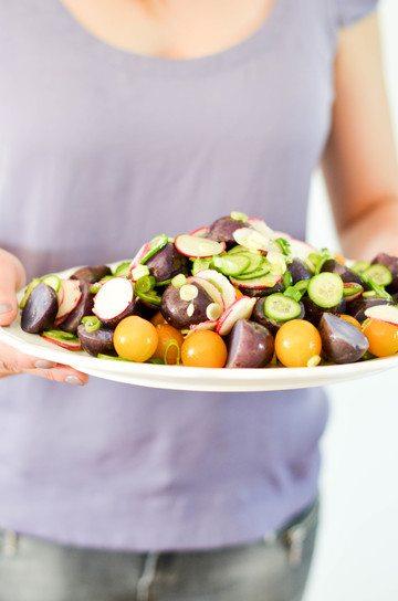 Rezept Lila Kartoffelsalat