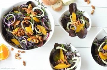 Rezept Lila Salat mit Orangen und Fenchel