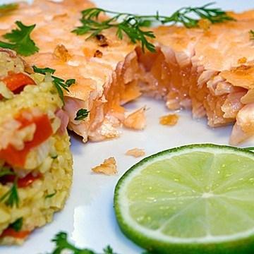 Rezept Limetten-Lachs mit Koriander-Paprika-Couscous