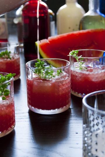 Rezept Limonade mit Wassermelone, Basilikum & Schmor-Zitronen
