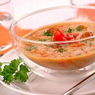 Rezept Linsen-Kokos-Suppe mit Cabanossi