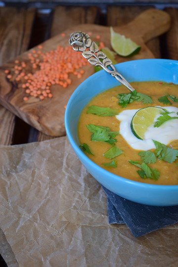 Rezept Linsen Kokos Suppe mit Pute