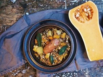 Rezept Linsen-Kürbis-Eintopf mit Salsiccia