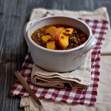 Rezept Linsen mit Chili und Pfirsich
