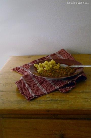 Rezept Linsen mit Spätzle und Wienerle