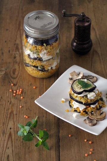 Rezept Linsen-Salat mit Aubergine und Feta
