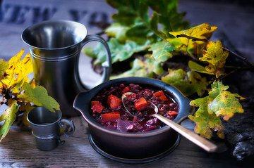 Rezept Linseneintopf mit Kürbis und Rote Beete