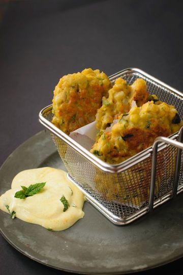 Rezept Linsenpatties aus gelben Linsen mit Zitronen-Minze-Dipp