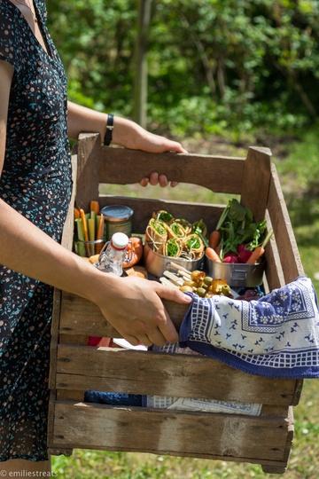 Rezept Linsenpfannkuchen aus Linsenmehl zum veganen Picknick