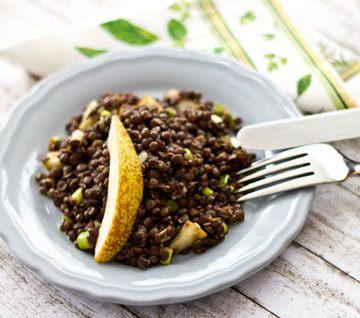 Rezept Linsensalat mit Birnen und Frühlingszwiebeln