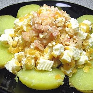 Rezept Linsensalat mit Schafskäse