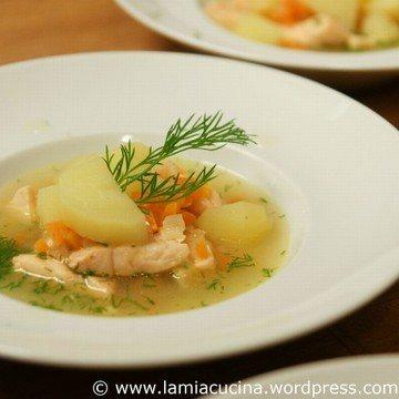 Rezept Lohikeitto,  Lachssuppe aus Finnland