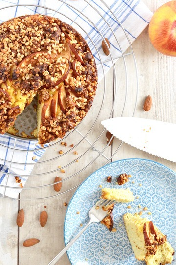 Rezept Low Carb Apfelkuchen mit Mandelcrumble