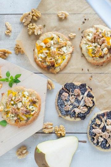 Rezept Low-Carb Mini Pizza süß und salzig