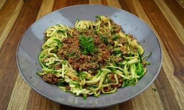 Rezept Low-Carb Nudel Bolognese