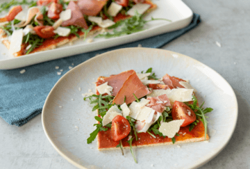 Rezept Low Carb Pizzateig aus Quark
