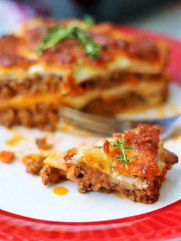Rezept Low Carb: Sellerie-Hackfleisch-Lasagne