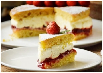 Rezept Low Carb Victoria Sponge Cake der traditionelle englische Rührkuchen