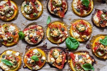 Rezept Low Carb Zucchinipizza