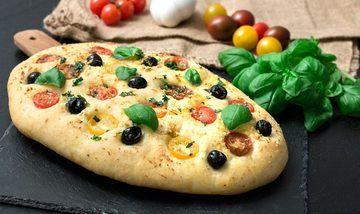 Rezept Luftig leichte Focaccia mit Tomaten