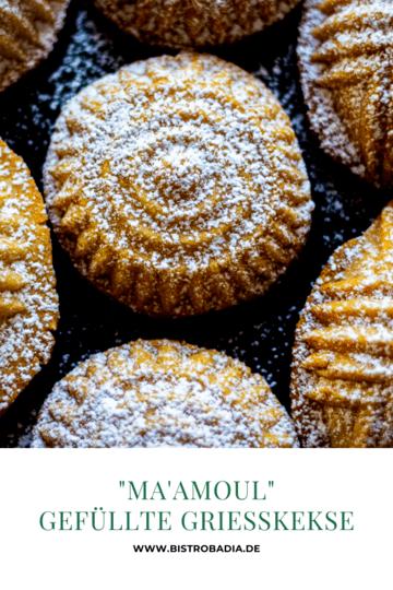 Rezept Ma'amoul: Gefüllte Grießkekse