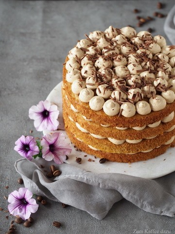 Rezept Macadamia-Kürbis-Torte mit Espresso-Mousse