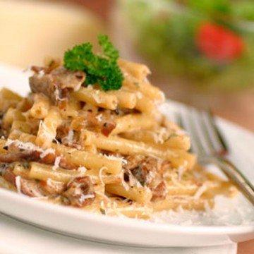 Rezept Maccheroni mit Steinpilz-Speck-Rahm