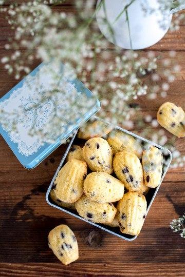 Rezept Madeleines mit Schokolade