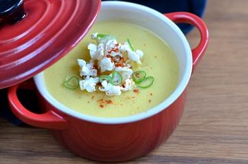 Rezept Mais-Suppe mit Popcorn