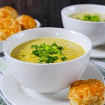 Rezept Maissuppe mit Käse-Scones