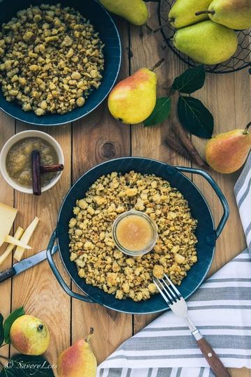 Rezept Maluns mit Birnenkompott