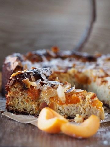 Rezept Mandel-Aprikosen-Kuchen mit Safran