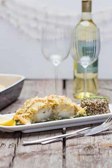 Rezept Mandel-Cobia auf Spinatbett mit Quinoa