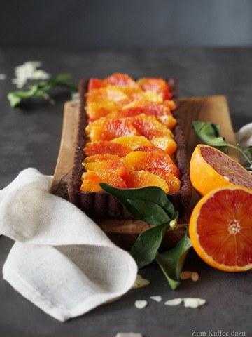 Rezept Mandel-Tarte mit Blutorange