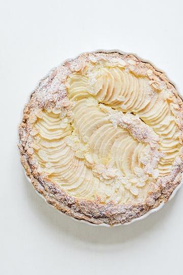 Rezept Mandeltarte mit Birnen und Schokolade - Tarte frangipane aux poires