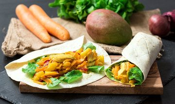 Rezept Mango-Chicken-Wraps